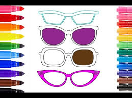Rainbow Coloring Glasses For Kids