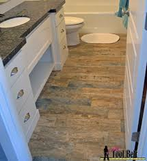 wood tile bathroom best look architecture with black grout brick