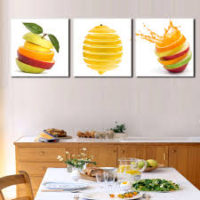 Apple Kitchen Decor Ideas by Aliexpress Com Buy 3 Pieces Kitchen Wall Pictures Fruit Painting