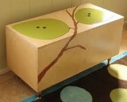 dark wood toy box foter