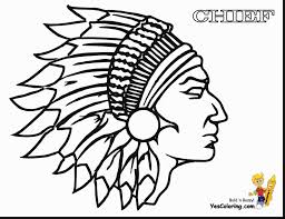 Excellent American Indian Coloring Pages With Native And Pdf