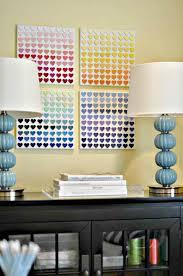 Paint Chip Heart Art Teen Room Decor Diy For Bedroom Teenage