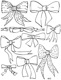 Printable Red Ribbon Week Coloring Sheets Bows Pages Cheer Bow Ribbons Compound Cute Pictures Pdf