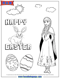 Hmcoloringpages Free Printables Coloring Pages Cartoon Disney Holiday Disneys Frozen Anna And Easter Bunny