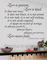 Love Is Patent Kind Bible Verse Wall Decal