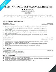 Sample Resume For Project Manager Construction Software Residential