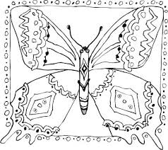 Full Image For Butterfly Coloring Pages Printable Flowers And Butterflies Pictures