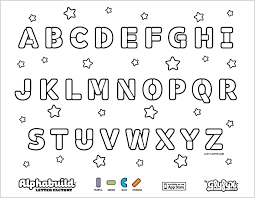 Alphabet Coloring Pages Photo