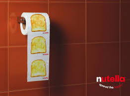 nutella toilet paper advertising