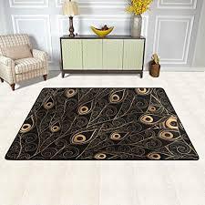 isaoa moderner und bequemer teppich mit elefantenmotiv 90 x 60 cm strapazierfähiger teppich läufer für fußmatte küche esszimmer wohnzimmer