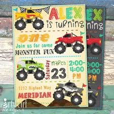 Monster Trucks Personalized Birthday Printable Invitation Or Party ... Monster Truck Party Printables Set Birthday By Amandas Parties Invitation In 2018 Brocks First Birthday Invite Car Etsy Fire Invitations Tonka Envelopes Engine Online Novel Concept Designs Jam Free British Decorations Supplies Canada Open A The Rays Paxtons 3rd Party Trucks 1st 2nd 4th Ticket Iron On Blaze And The Machines Baby Shark Song Printable P