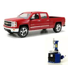100 Chevy Toy Trucks Diecast Car Tire Station Package Silverado Pickup Truck
