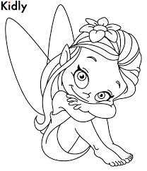 Printable Fairy Kids Coloring