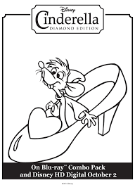 Cinderellas Glass Slipper Printable Coloring Sheet