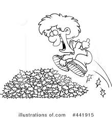 Pile Leaves Clip Art Black And White Clipart Illustration By Yjp8jn Clipart