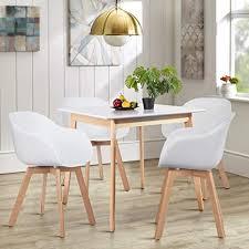 homycasa runder tisch quadratischer tisch moderner esstisch 80 cm für küche esszimmer möbel für 4 personen holz weiß quadratisch