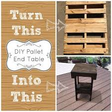 Diy Pallet End Table How To Repurposing Upcycling Woodworking