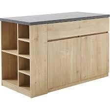meuble ilot cuisine bar îlot central l140cm rangement réversible gabin meubles