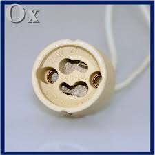 aliexpress com buy porcelain ceramic gu10 base socket adapter