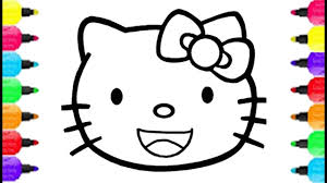 Hello Kitty Smiley Face Coloring Pages How To Draw For Kids Baby