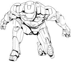 Superhero Coloring Pages Iron Man