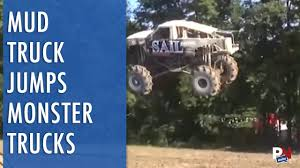 A Mud Truck That Jumps 5 Monster Trucks