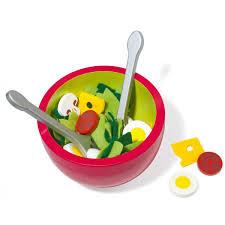 jeux de cuisine pour les enfants ensemble saladier en bois imagibul création oxybul pour enfant de 3