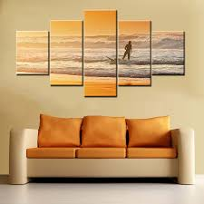 Decorative Surfboard Wall Art by Online Get Cheap Surfboard Paintings Aliexpress Com Alibaba Group