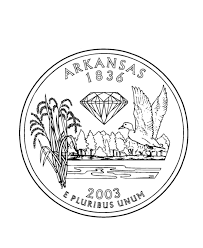 Arkansas State Quarter Coloring Page