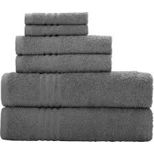 mainstays essential true colors bath towel collection 6 piece set