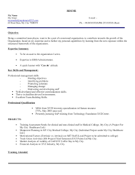 Resume Title Examples For Mba Freshers Of
