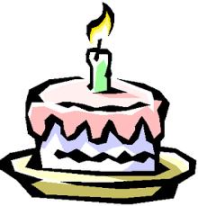 Flower Birthday Cake Clip Art