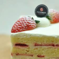 Strawberry Shortcake Slice Close up