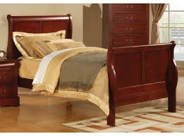 louis phillipe iii full sleigh bed in cherry 19528f