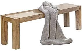 wohnling esszimmer sitzbank massiv holz akazie 140 x 45 x 35 cm design holz bank natur produkt küchenbank landhaus stil dunkel braun bank 3 sitzer für