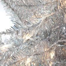 75 Pre Lit Christmas Tree Walmart by Silver Tiffany Tinsel Pre Lit Christmas Tree By Sterling Tree