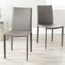 100 Dress Up Dining Room Chairs Safavieh MidCentury Jazzy Bonded Leather Grey