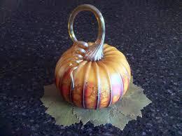 Glass Blown Pumpkins by Blown Glass Pumpkin Medium Size Jack Pine From Sealestialseaglass