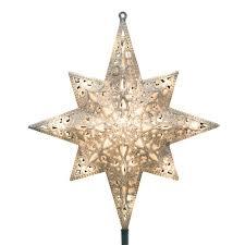 16 Light Silver Glittered Bethlehem Star Tree Top