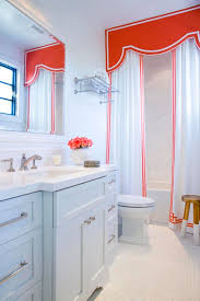 Shower Curtain Design Ideas: Valances, Cornices & Pelmets In The ... Bathroom Simple Valance Home Design Image Marvelous Winsome Window Valances Diy Living Curtains Blackout Enchanting Ideas Guest Curtain Elegant 25 Cool Shower With 29 Most Awesome Treatments Small Bedroom Balloon For Windows White Simple Valance Ideas Comfort Hgtv Inspirational With Half Bath Bathrooms Window Treatments