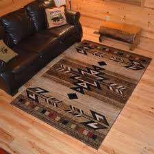 Rustic Lodge Southwestern Desert Cabin Ivory Area Rug 710 X 910