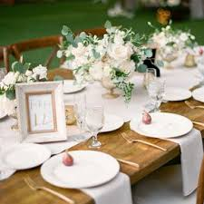 Romantic Rustic Ivory Farm Table Decor
