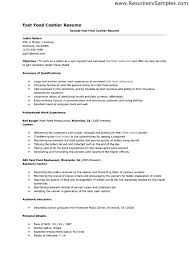 Resume Example For Cashier Retail Examples Templates Restaurant Cover Letter E In Experienced Objective