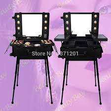 2018 to europe india uk black lighted makeup table with lights
