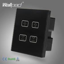 intelligent 4 dimmer wallpad black tempred glass switch led 4
