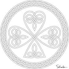 Shamrock Coloring Page For Adults Free Printable Pages