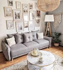 wunderschöne große bilderwand beige graue wohnzimmer bilder