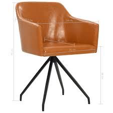 vidaxl drehbare esszimmerstühle 4 stk braun kunstleder