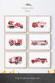 100 Fire Truck Wall Art Ladder Printable Print