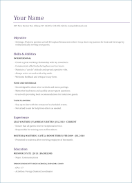 Resume Objective Sample
